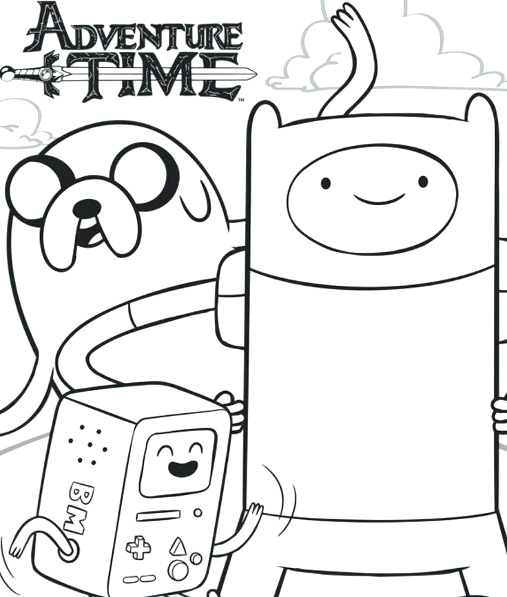 finn and jake coloring pages