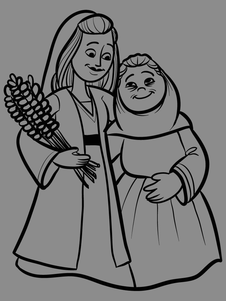 Bible Coloring Pages Of Ruth and Naomi Thrifter
