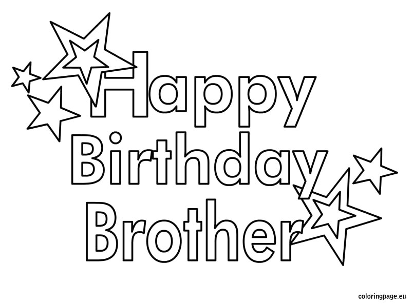 Big Brother Happy Birthday Brother Coloring Pages Happy Birthday Brother Coloring Page – Coloring Page