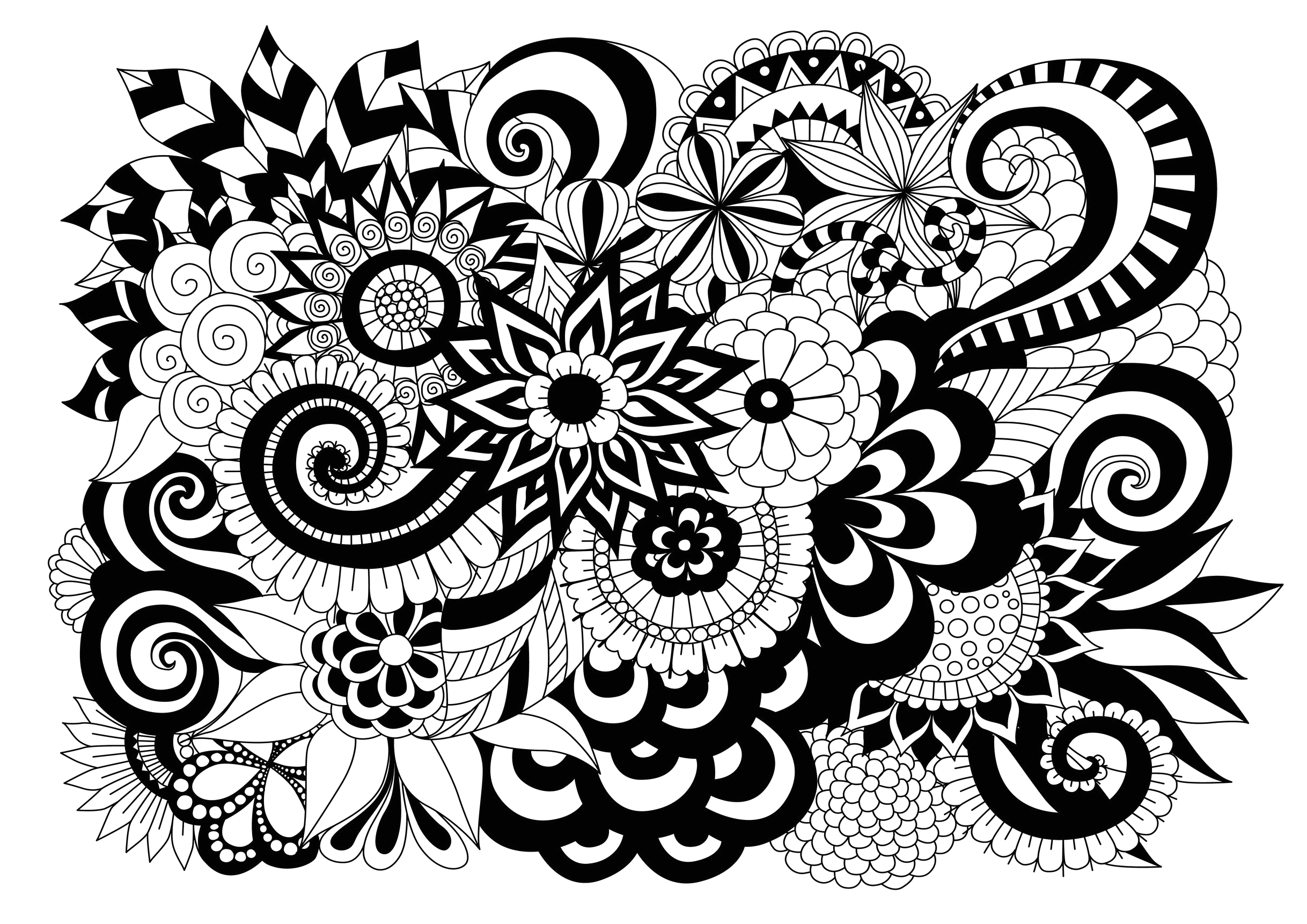 2 image=fleurs et ve ation coloring black and white flowers by bimdeedee 1