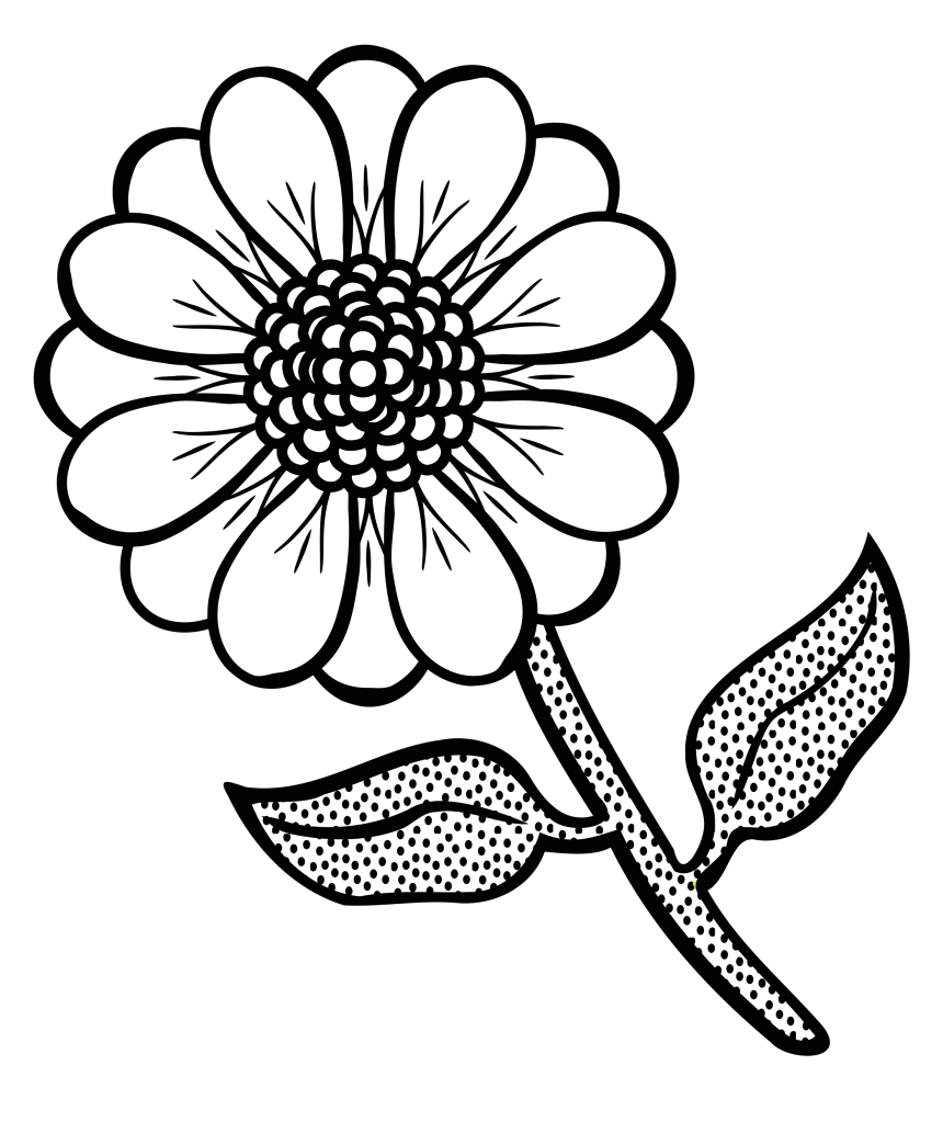 iTxihhT free printable flower coloring pages flower black and