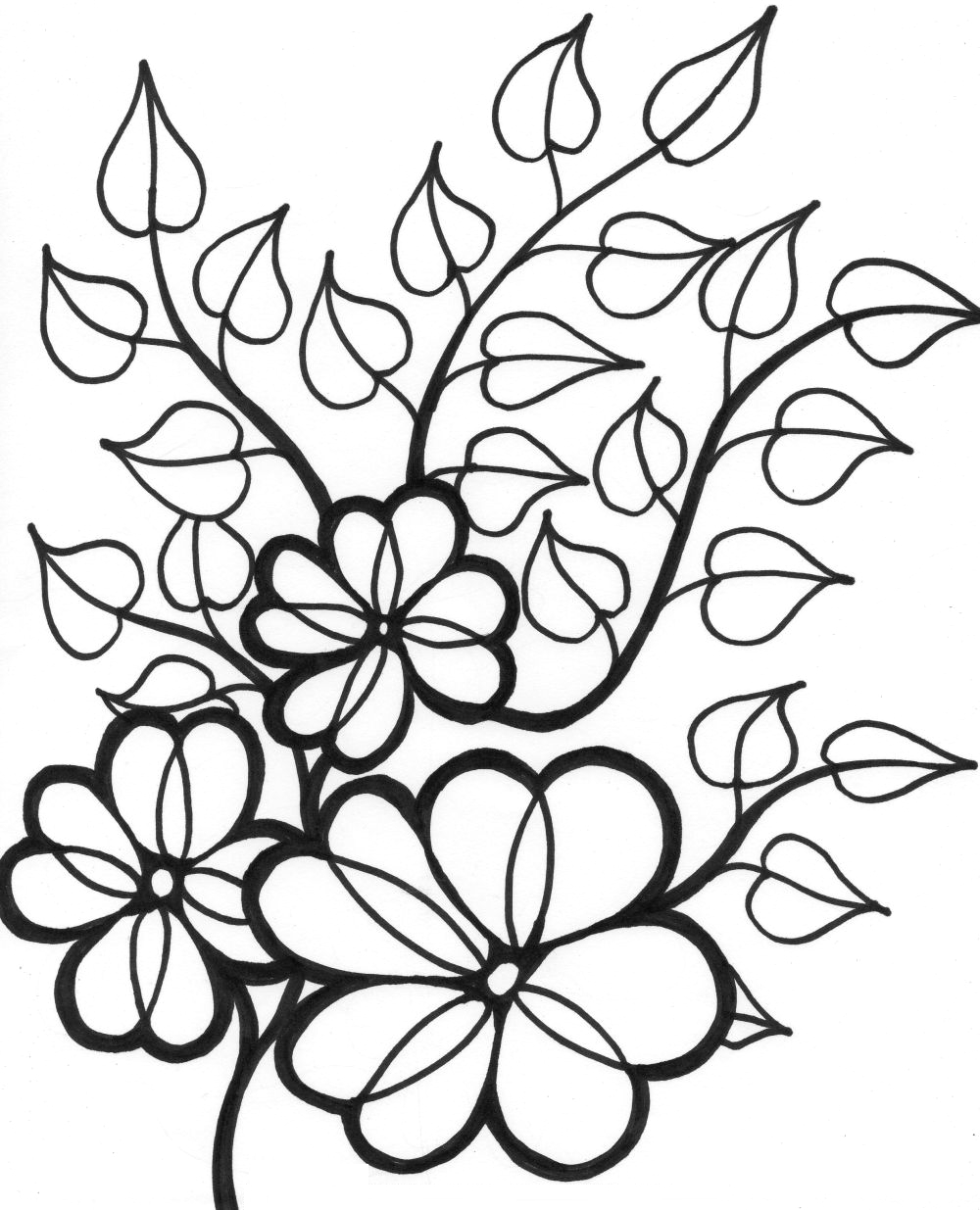 summer flowers printable coloring pages 324