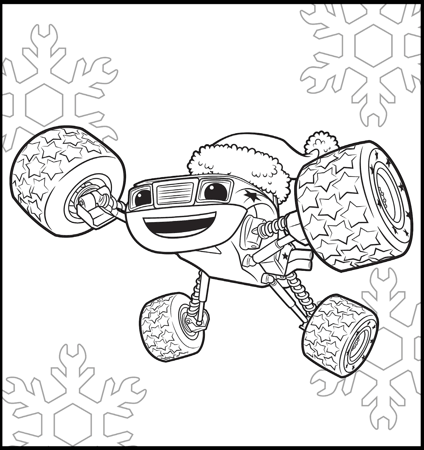 blaze and the monster machines coloring pages to print