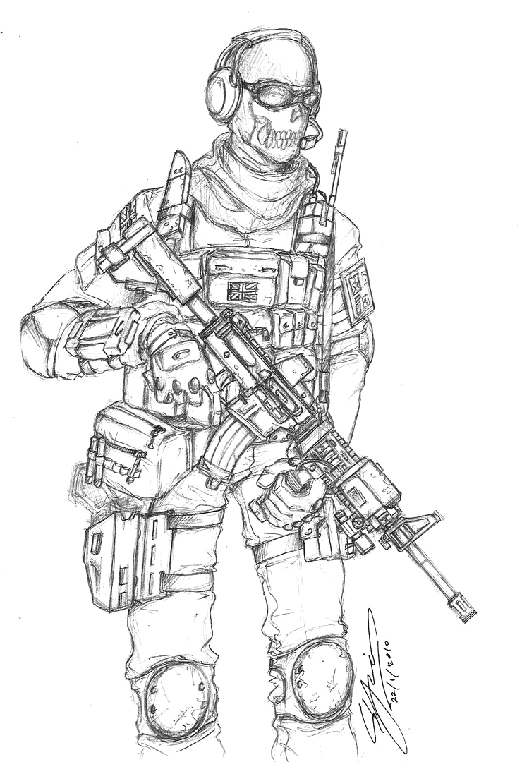 Call Of Duty Coloring Pages Modern Warfare 2 Cod Modern Warfare 2 Ghost by Jellovicious On Deviantart