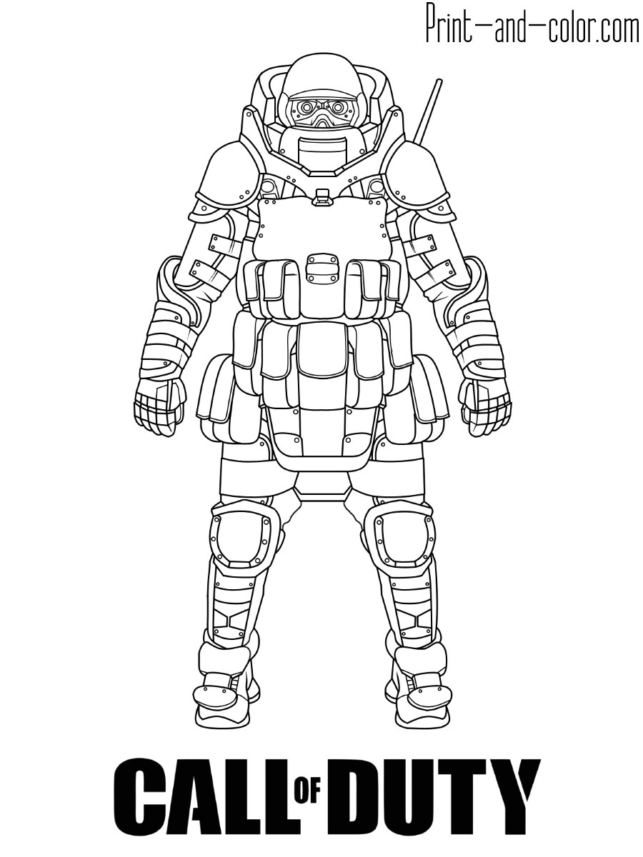 Call Of Duty Coloring Pages to Print Call Of Duty Coloring Pages