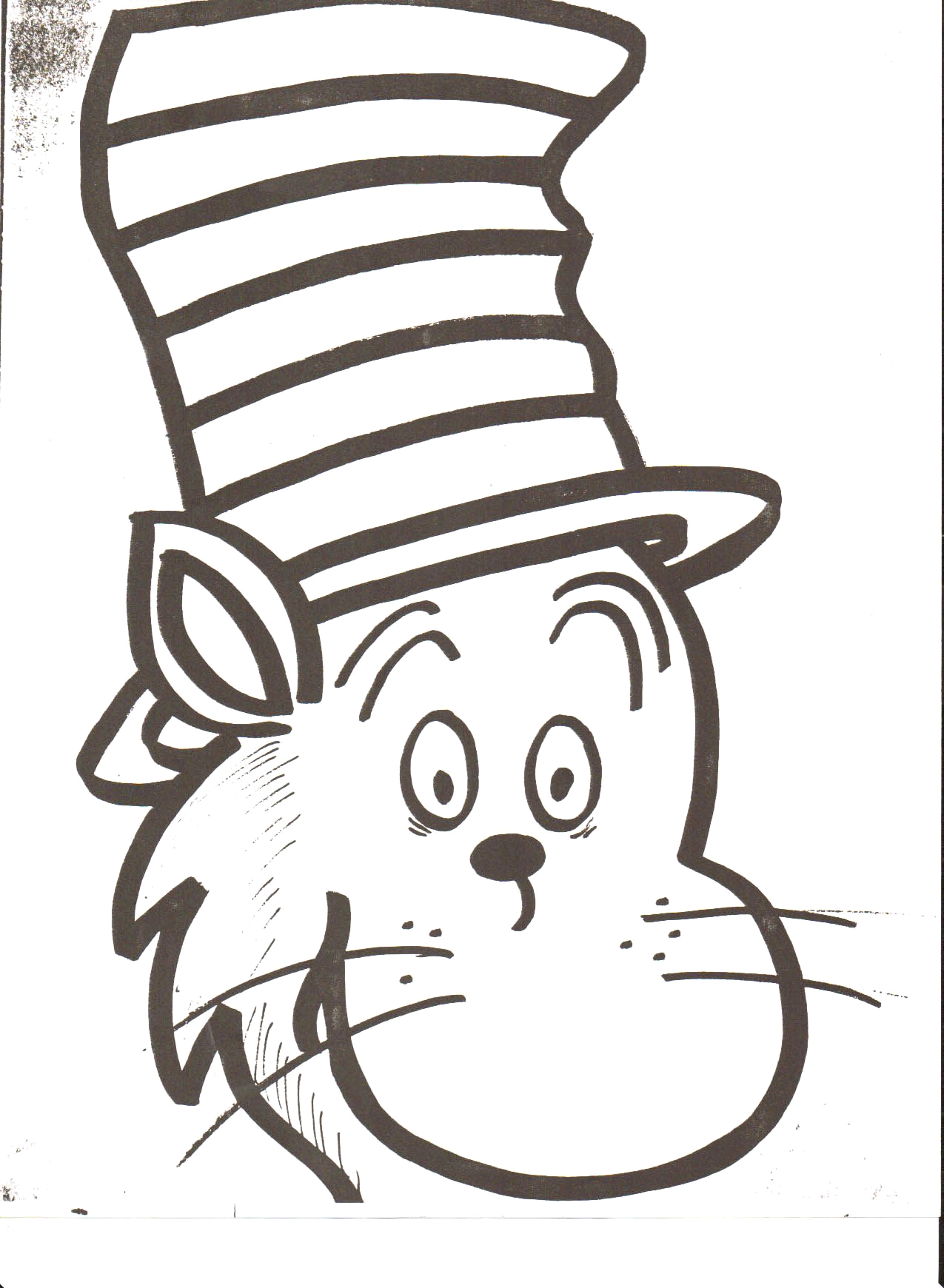 Cat In the Hat Face Coloring Page Blog Not Found