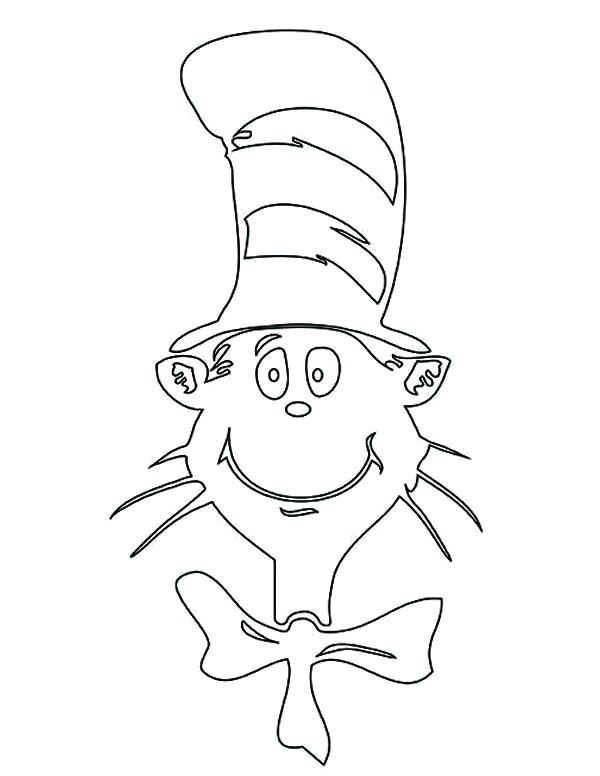 the cat in the hat picture coloring page