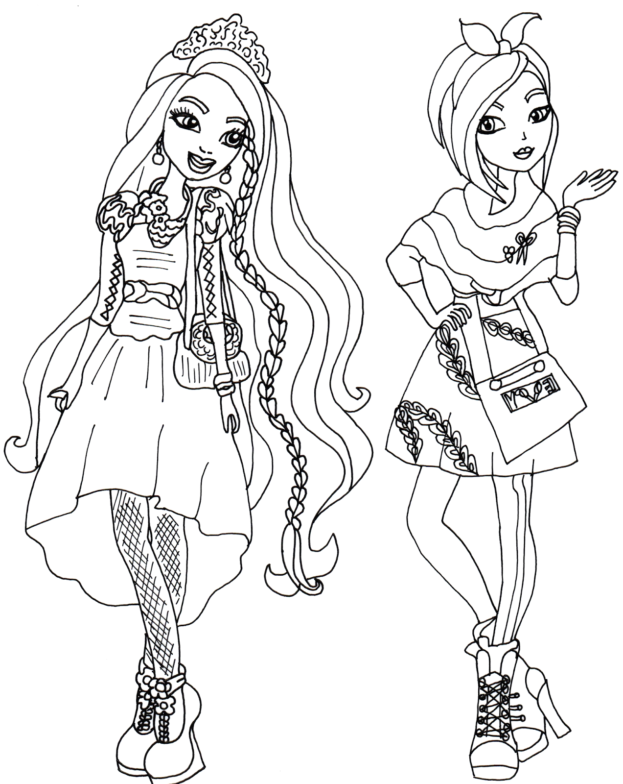 Coloring Pages for Girls Ever after High Free Printable Ever after High Coloring Pages Holly and
