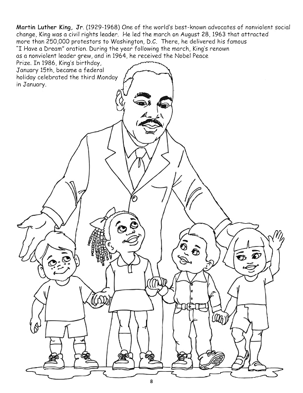 martin luther king day coloring pages