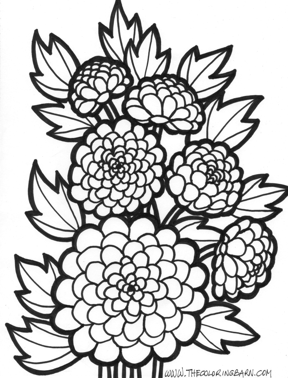 Coloring Pages Of Flowers for Teenagers Difficult Flower Coloring Pages for Teens Coloring Home