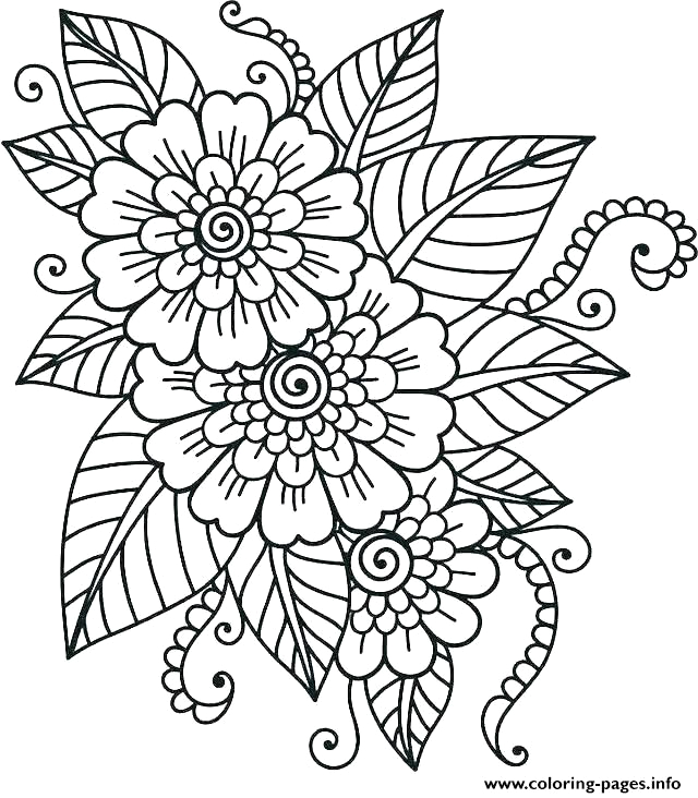hard flower for teens printable coloring pages book