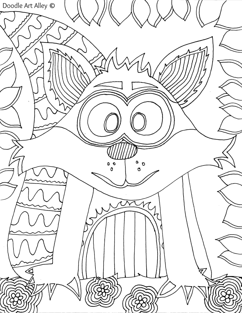 Doodle Art Alley Free Animal Coloring Pages forest Animal Coloring Pages Doodle Art Alley with Images