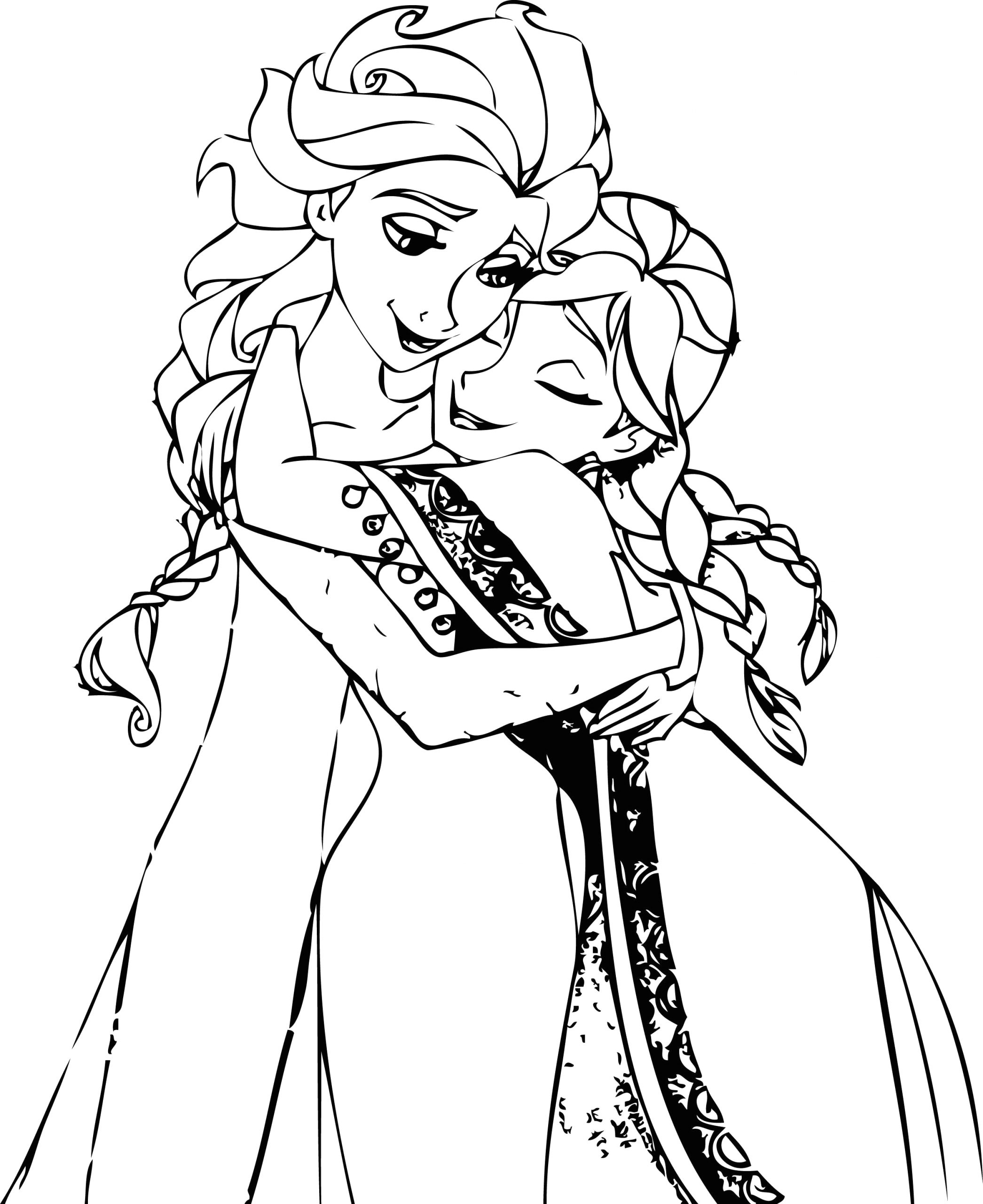 Elsa and Anna Coloring Pages to Print Elsa and Anna Coloring Pages Coloring Home