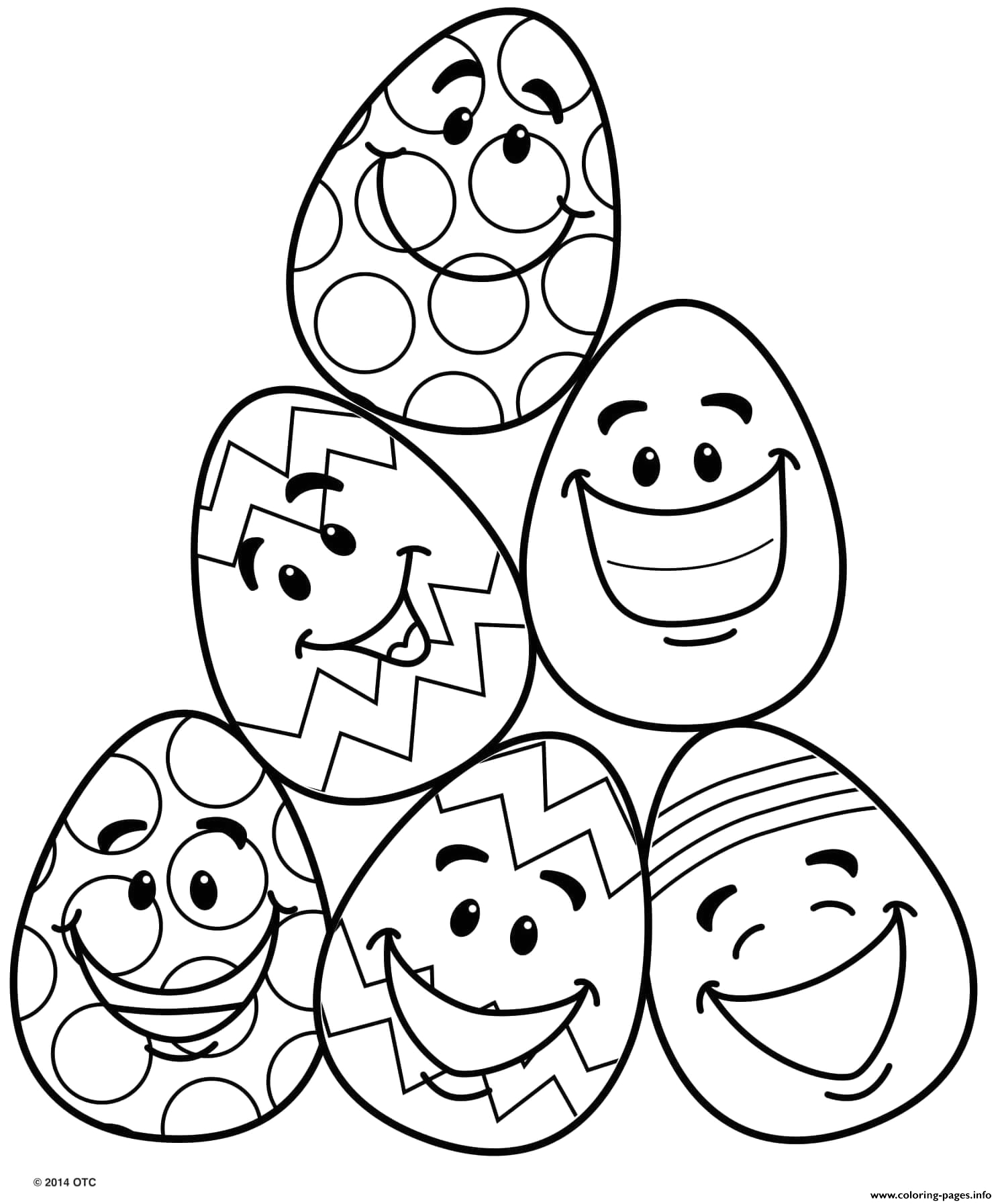 funny emoji eggs faces printable coloring pages book