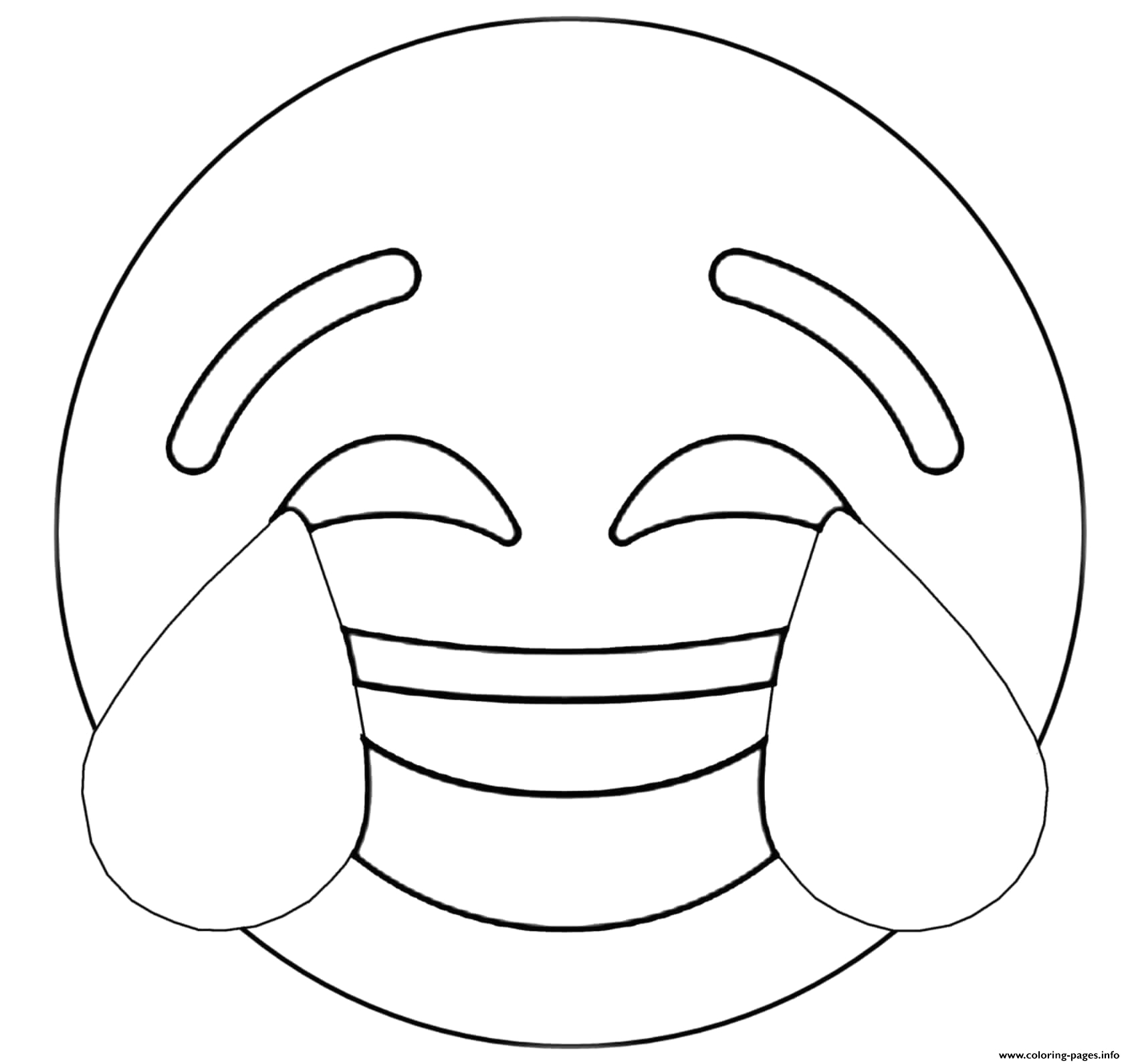 crying laughing emoji printable coloring pages book