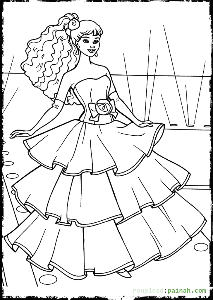 Fashion Fashion Designer Coloring Pages for Girls Coloring Pages Fashion Dresses at Getcolorings