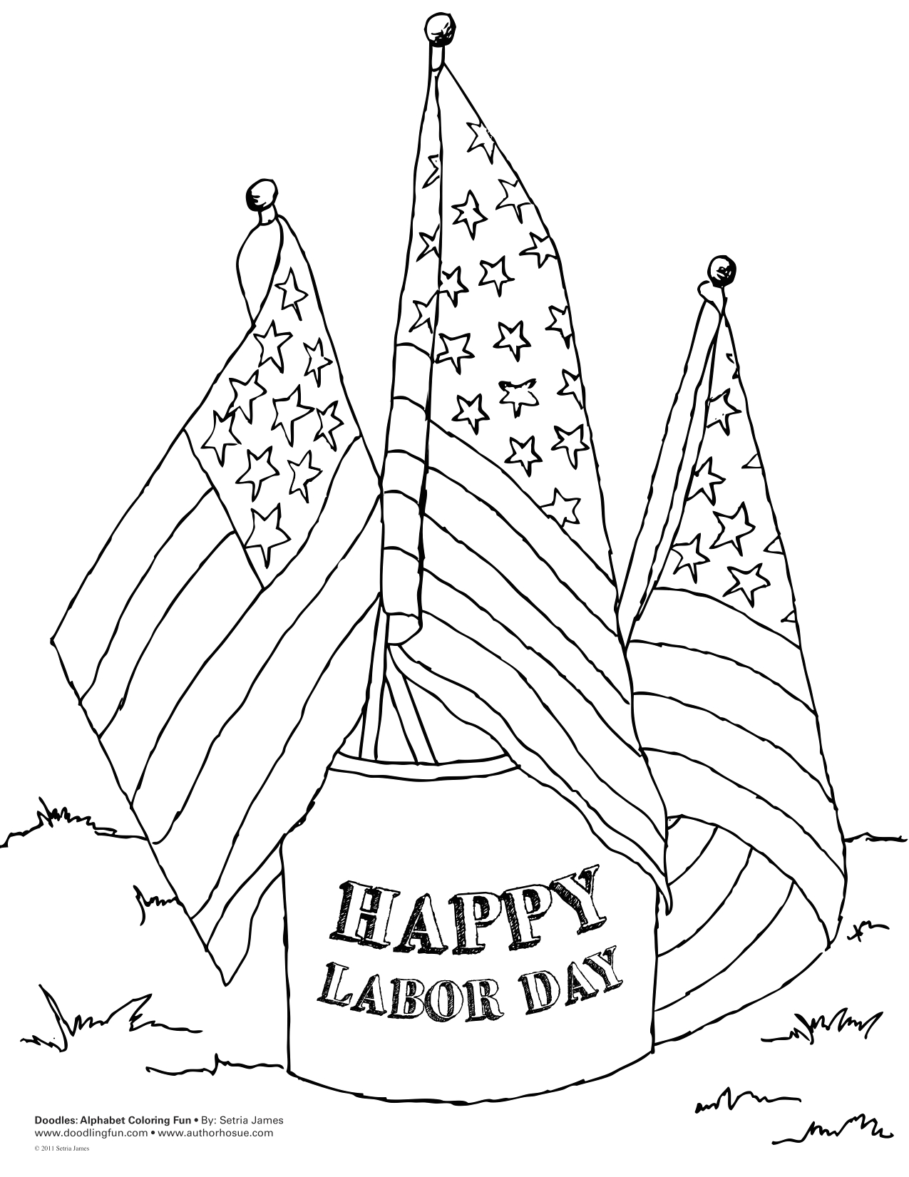 happy labor day coloring sheet