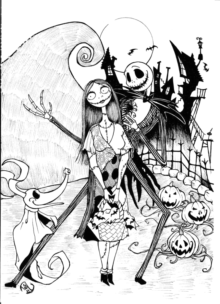 album=the nightmare before christmas coloring pages