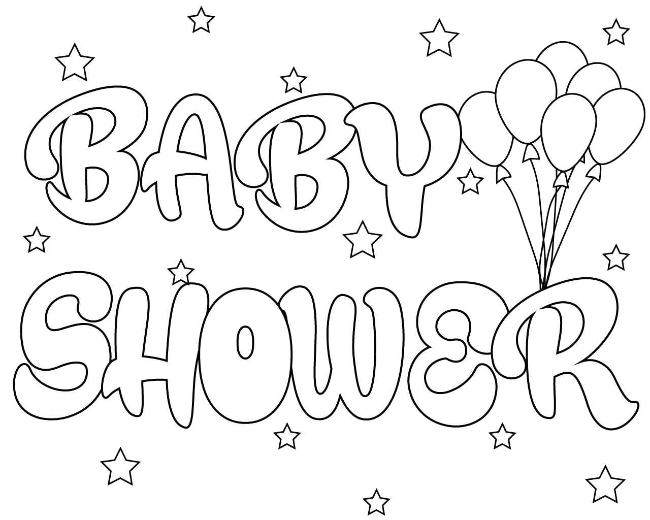 Free Printable Alphabet Coloring Pages for Baby Shower Baby Shower Coloring Pages Print