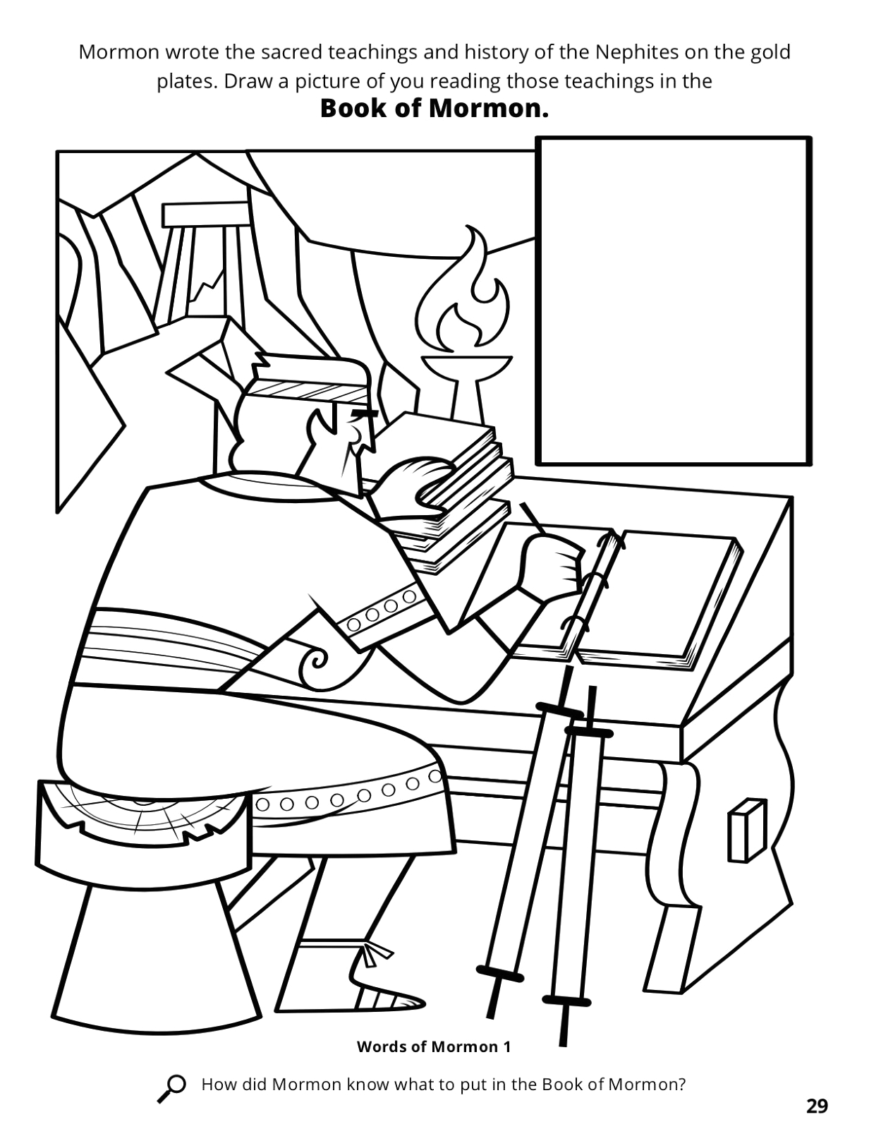 nephi coloring page