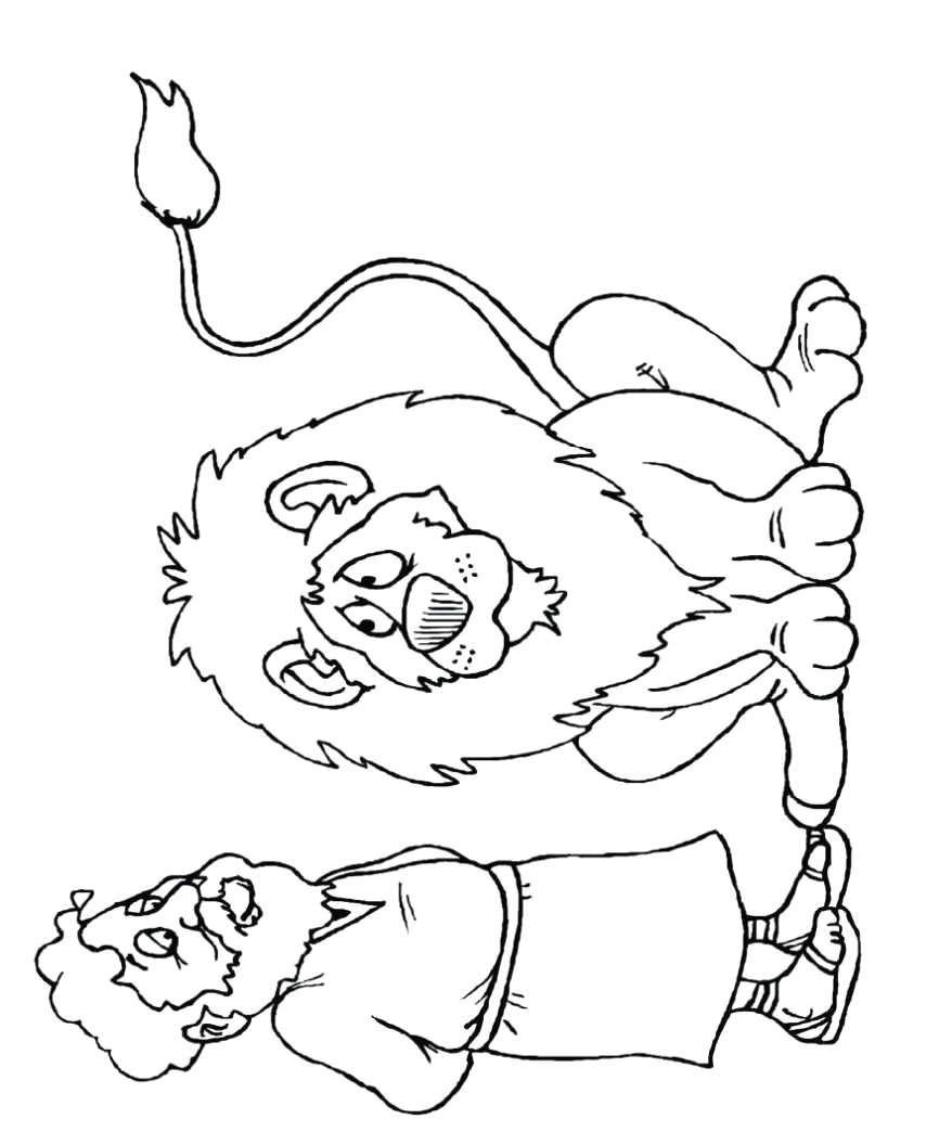 daniel and the lions den coloring pages free