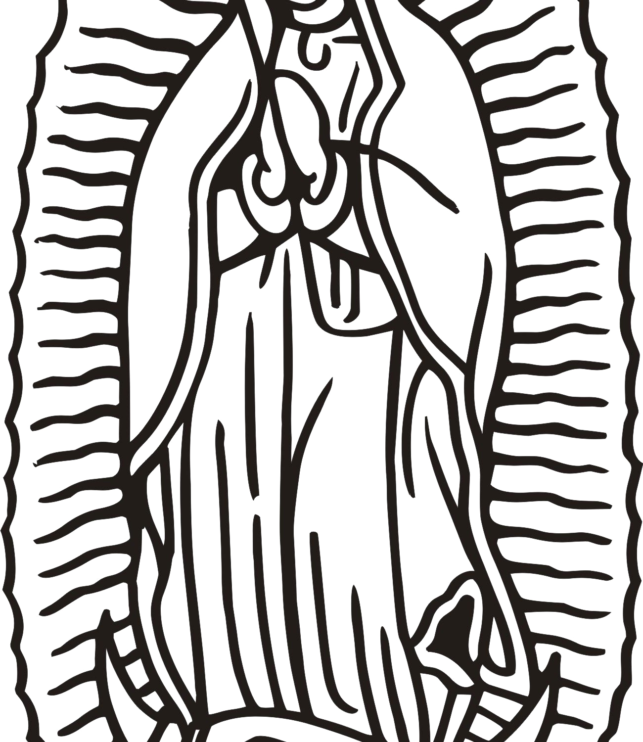 our lady of guadalupe coloring page