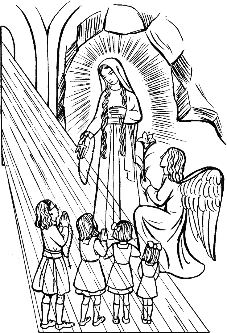 our lady of guadalupe coloring pages