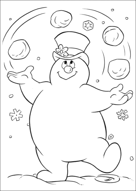 free printable frosty snowman coloring pages