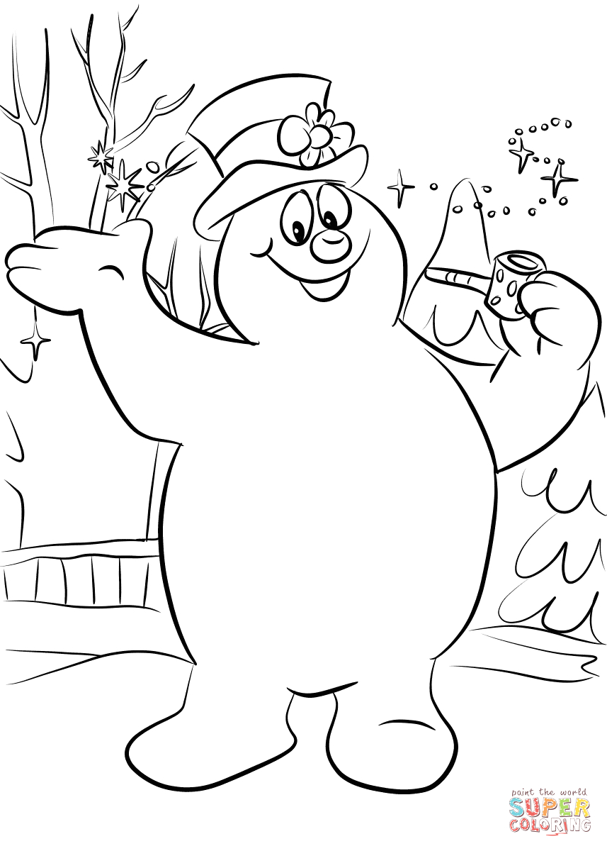 Free Printable Frosty the Snowman Coloring Pages Frosty the Snowman Coloring Page