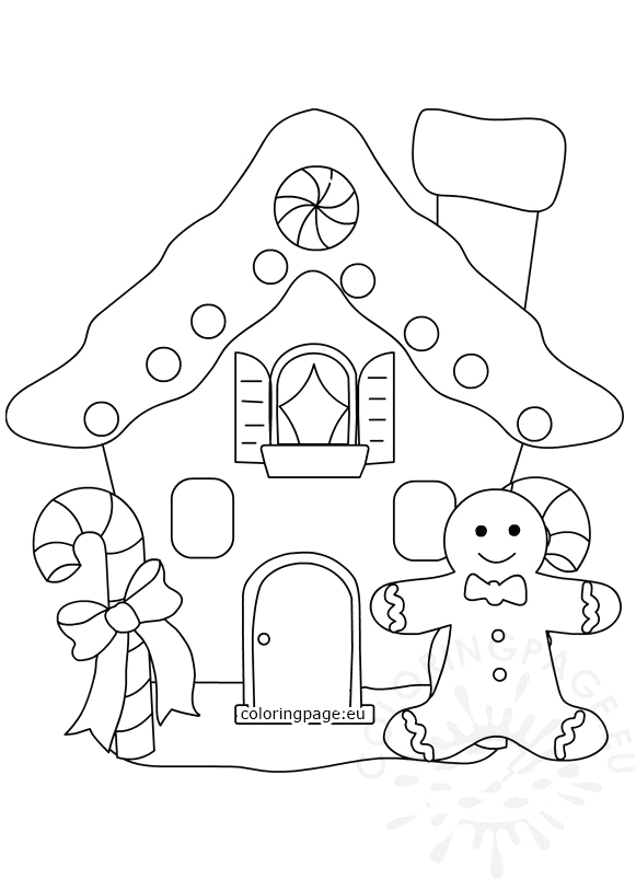 gingerbread house with gingerbread man template