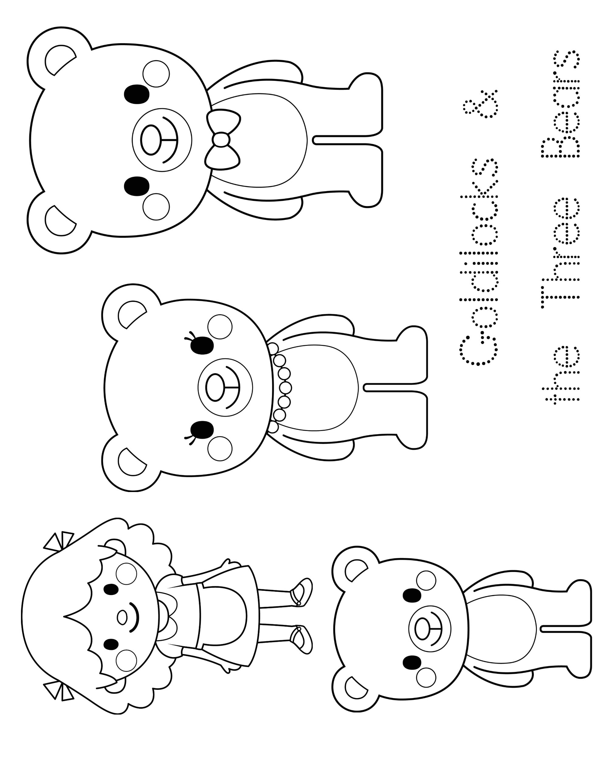 Goldilocks and the Three Bears Coloring Pages Preschool Goldilocks and the Three Bears Coloring Pages Free at