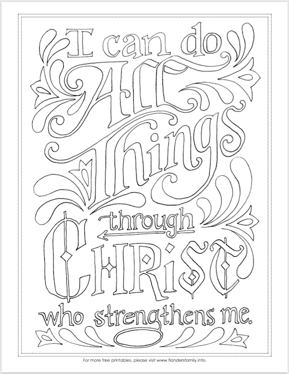 i can do all things coloring page