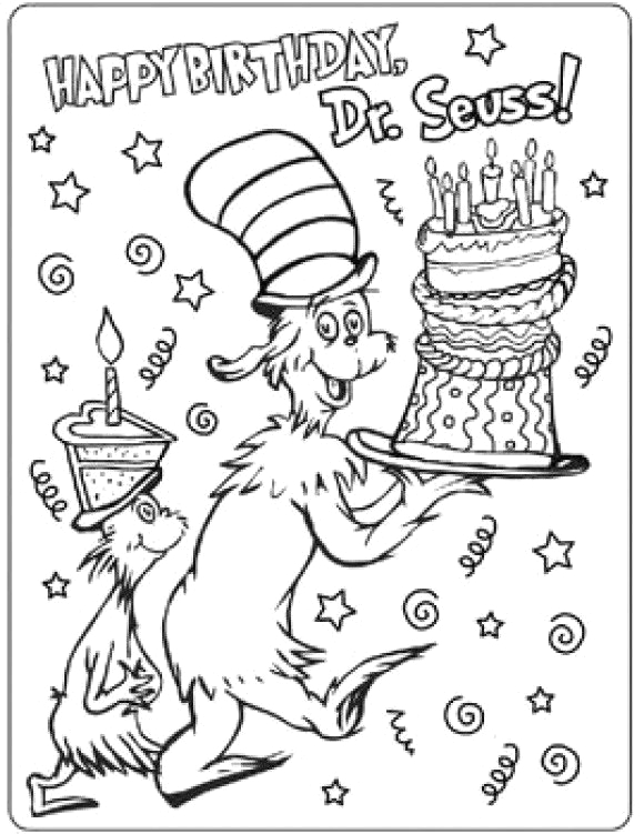 dr seuss coloring page free