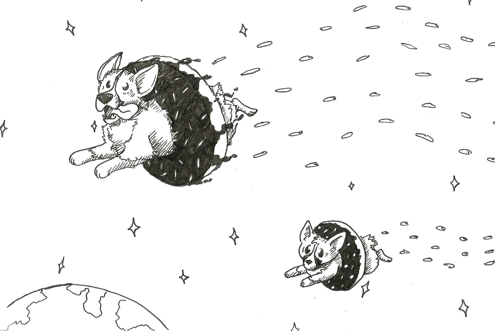 if you give a dog a donut coloring pages sketch templates