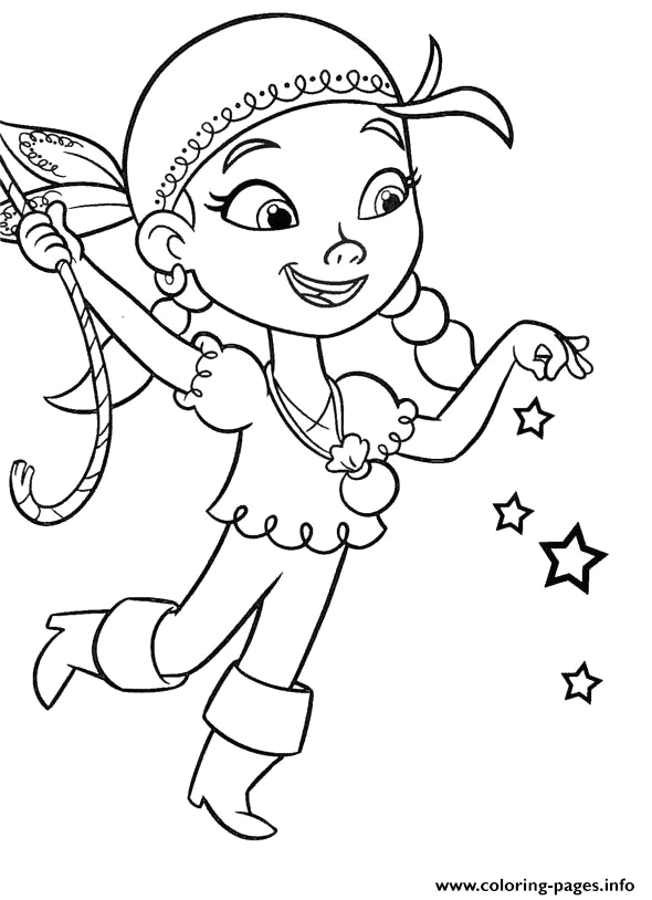 izzy jake and the neverland pirates printable coloring pages book