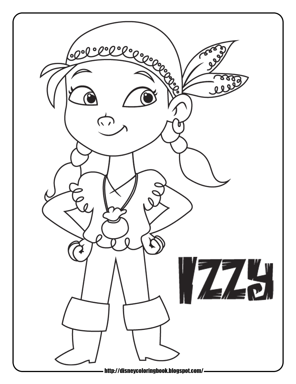 Izzy Jake and the Neverland Pirates Coloring Pages Jake and the Neverland Pirates 1 Free Disney Coloring