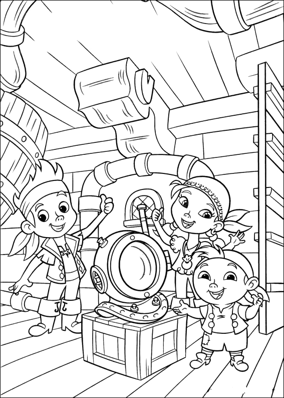 Jack and the Neverland Pirates Coloring Page Fun Coloring Pages Jake and the Neverland Pirates