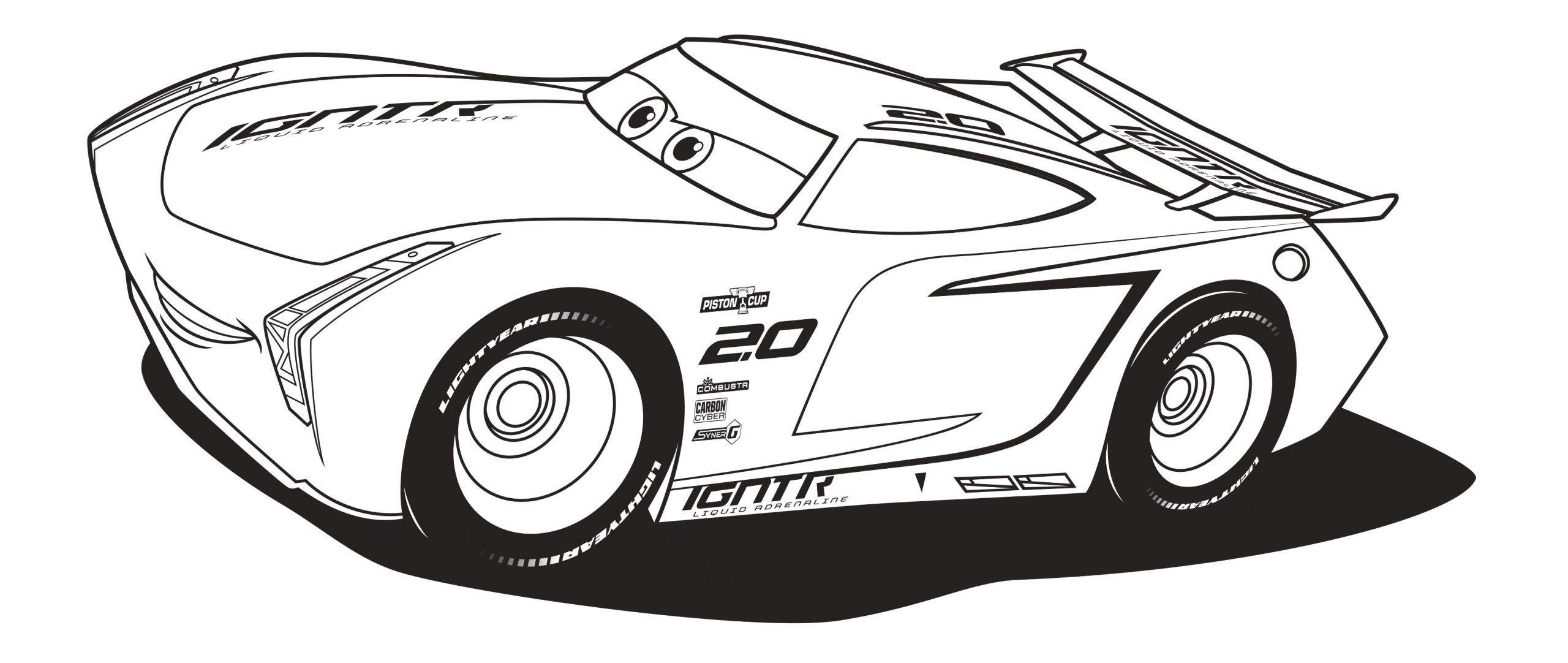 Jackson Storm and Lightning Mcqueen Coloring Pages Ausmalbilder Lightning Mcqueen Jackson Storm