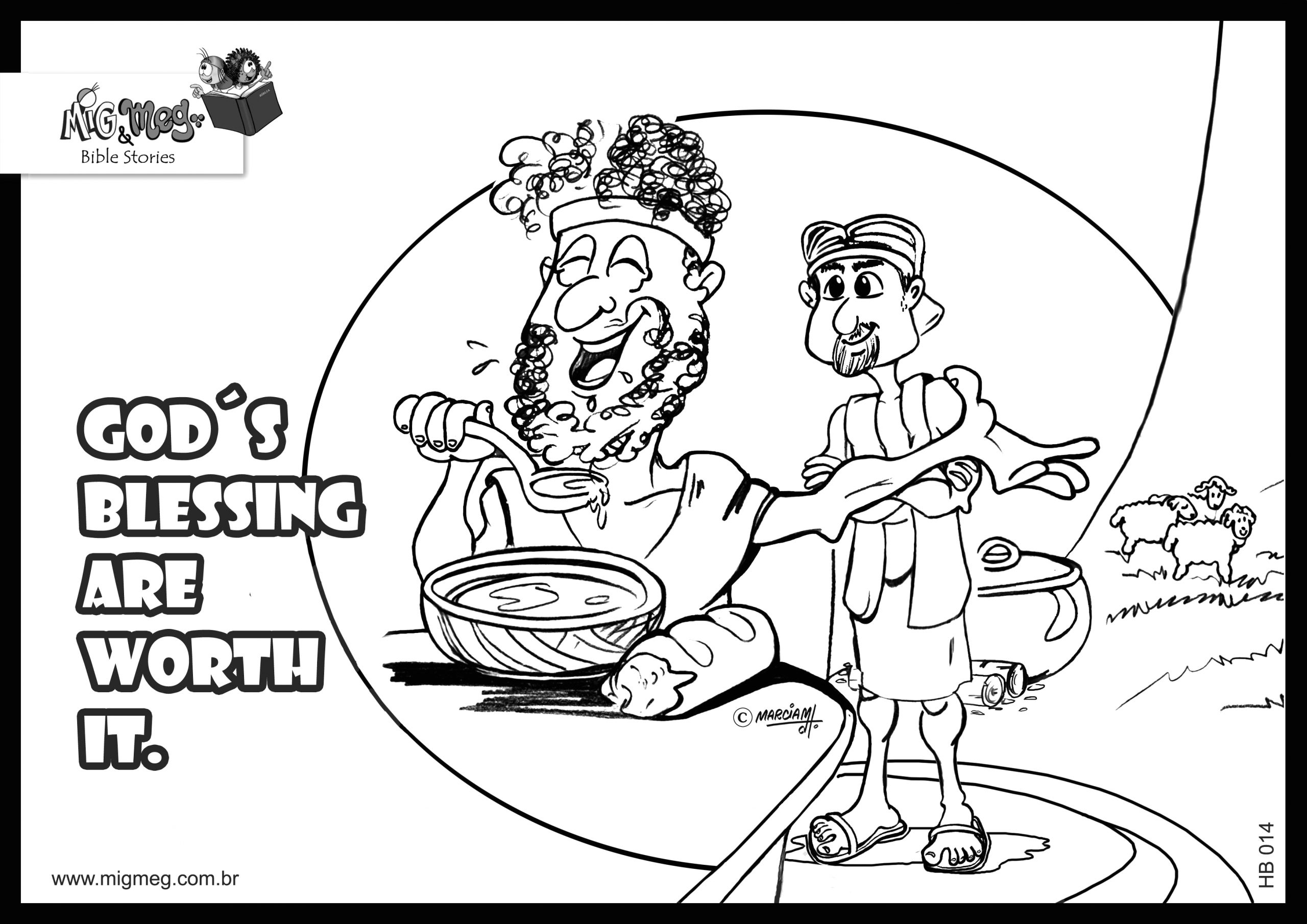 84 jacob and esau coloring page