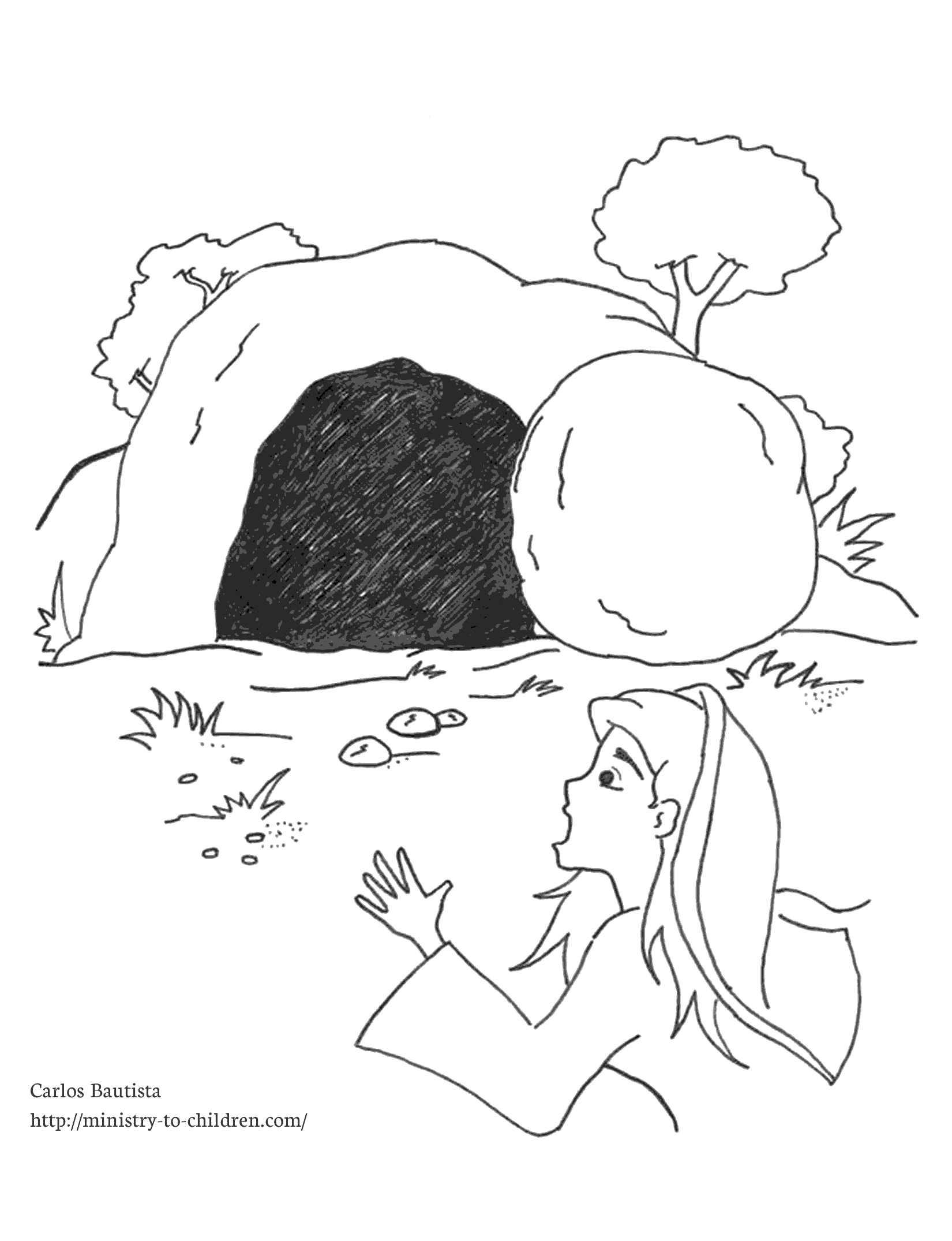 Jesus and the Empty tomb Coloring Page Free Clipart Jesus Empty tomb 20 Free Cliparts