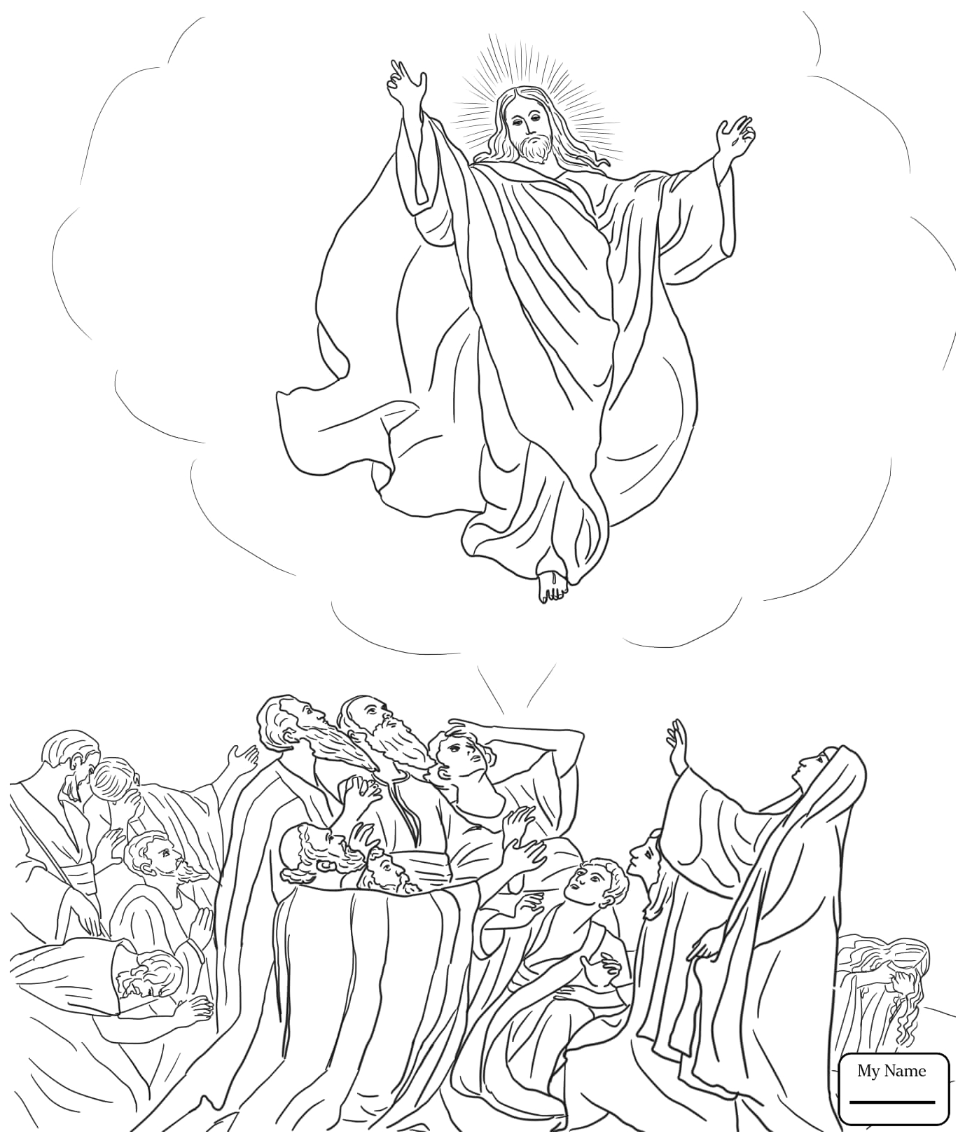 jesus empty tomb coloring pages