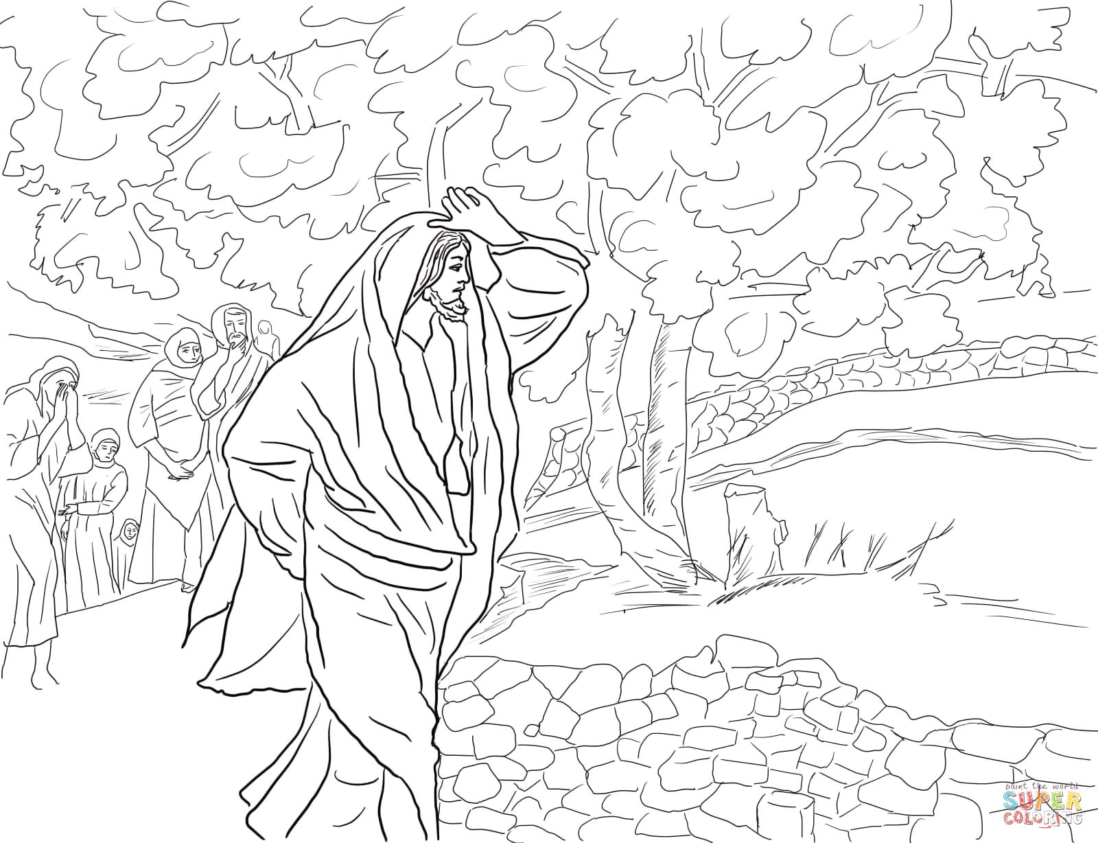 Jesus and the Fig Tree Coloring Page Jesus Curses the Fig Tree Coloring Page