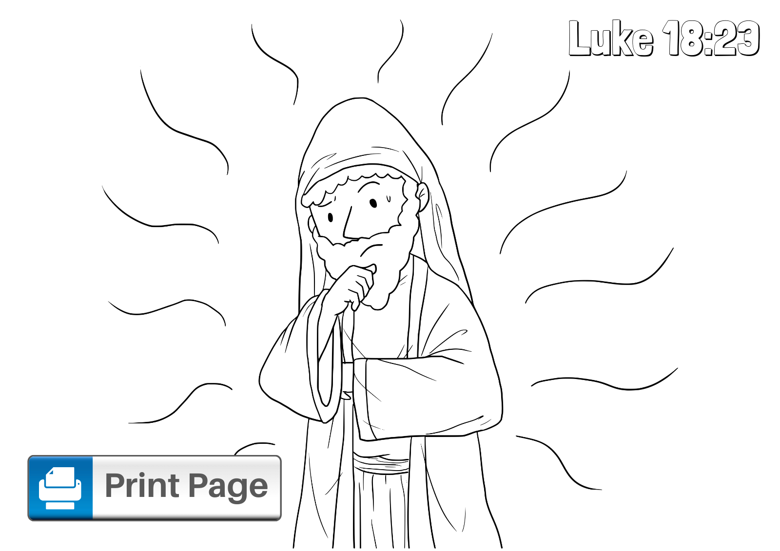 jesus and the rich young ruler coloring pages