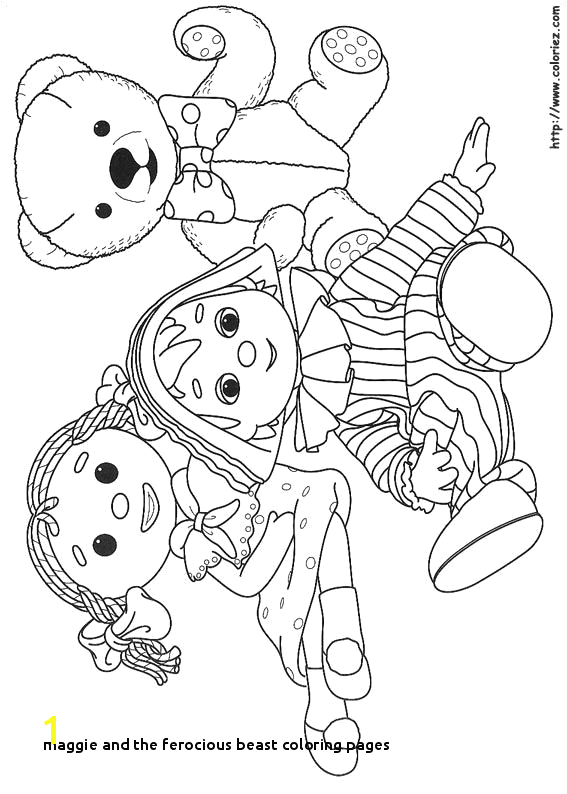 maggie and the ferocious beast coloring pages