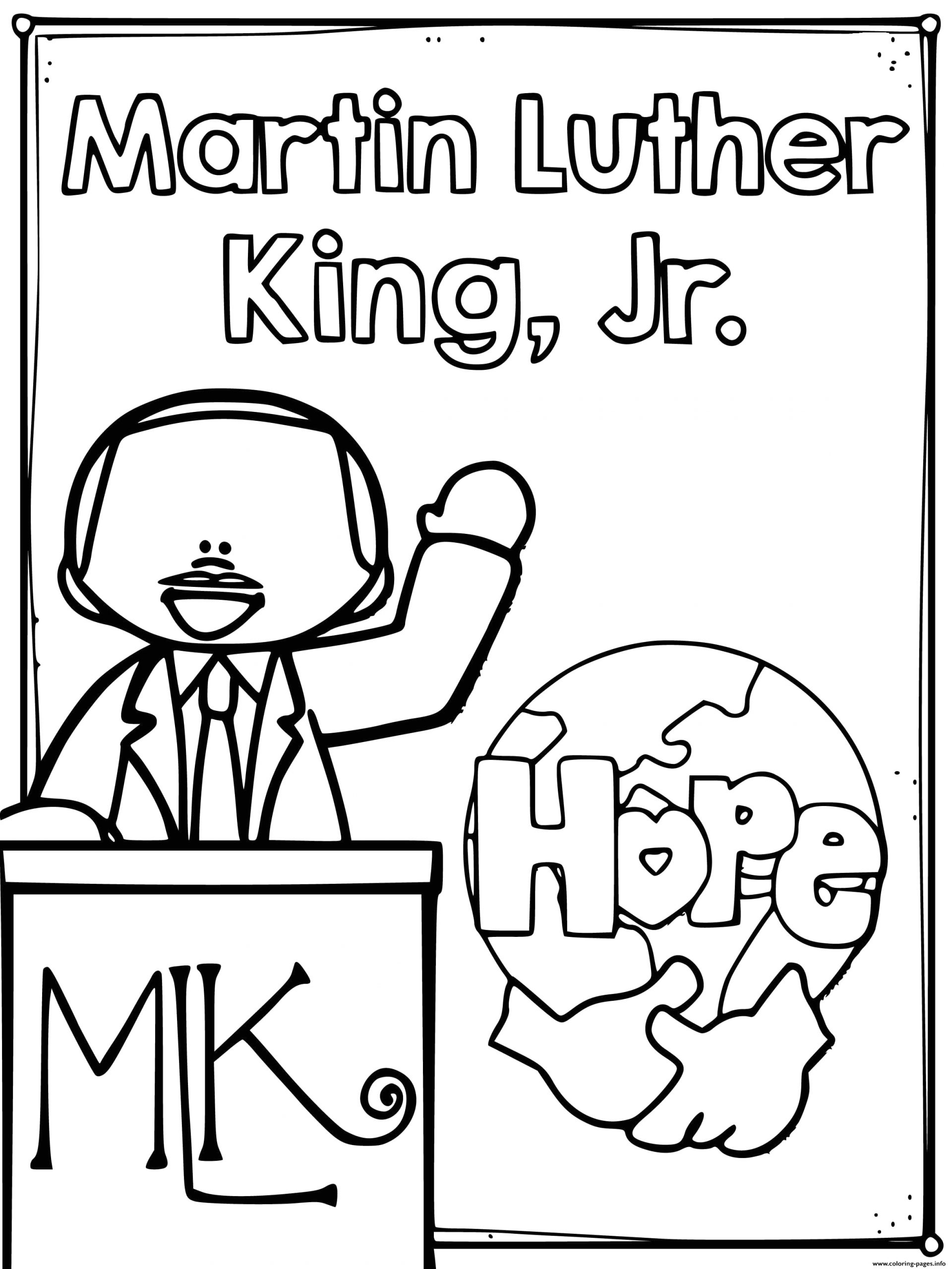 Martin Luther King Jr Coloring Pages Kindergarten Martin Luther King Jr Day Coloring Pages Print for Free