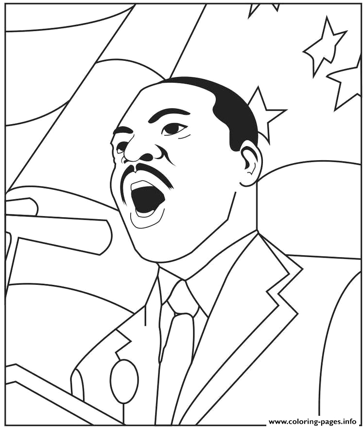 martin luther king jr day for preschool printable coloring pages book