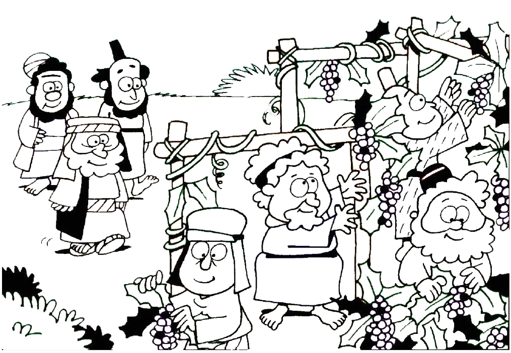 the workers in the vineyard coloring page