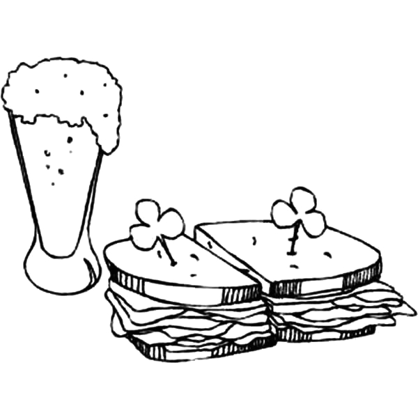 peanut butter and jelly coloring page