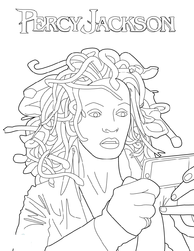 percy jackson coloring pages for free