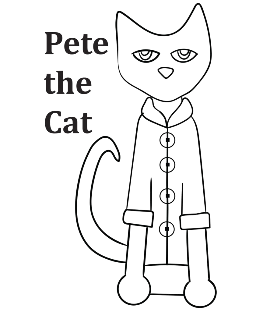 best pete the cat coloring pages for your little ones